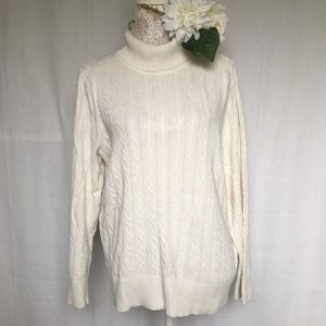 Sonoma // Oversized Cable Knit Turtleneck Sweater